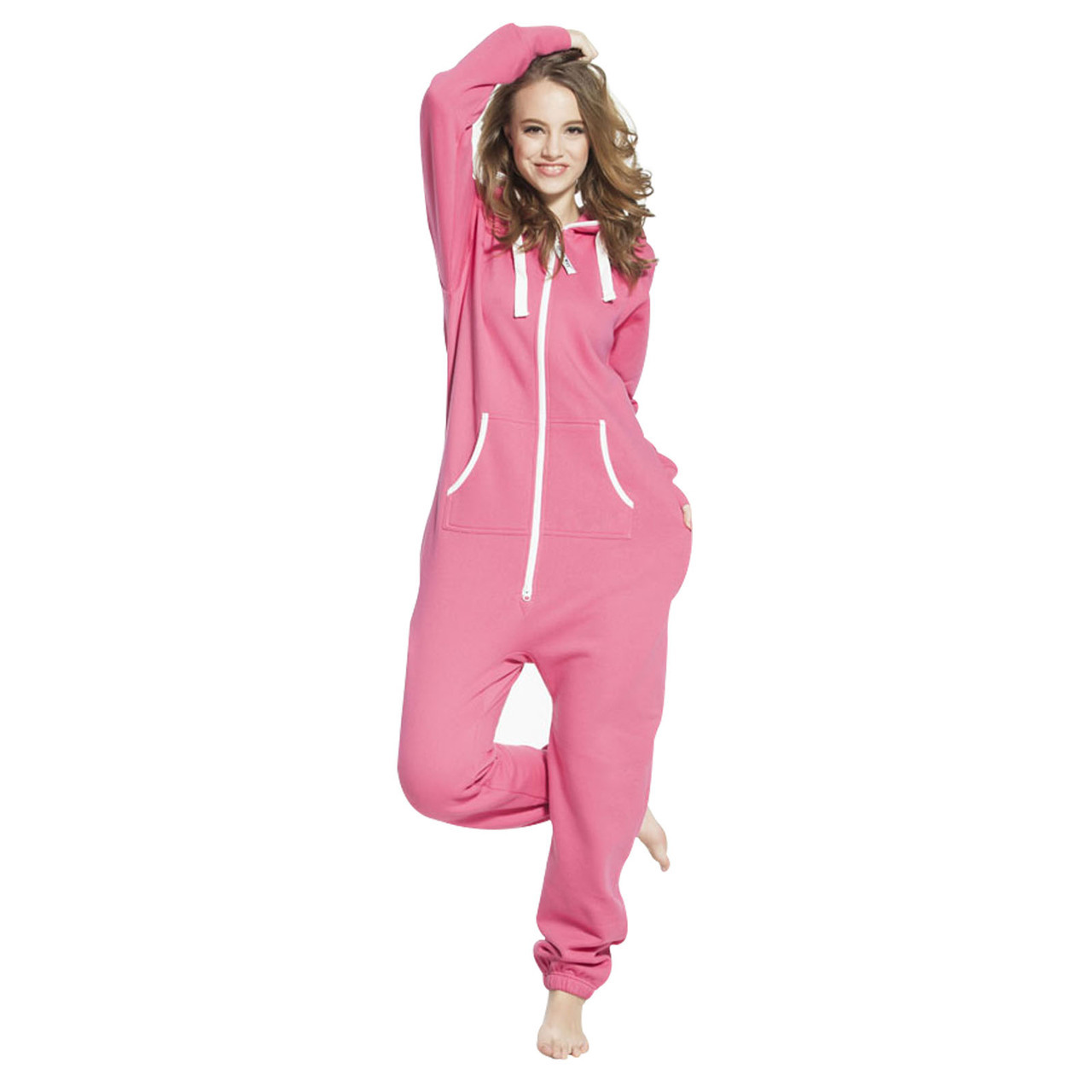 Women Onesie Jumpsuit Pink Xxlarge Skylinewears