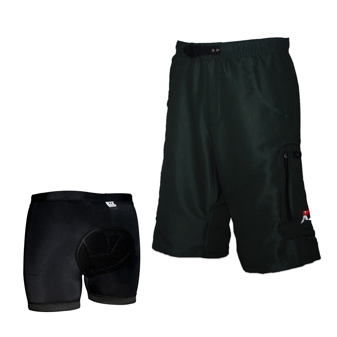 Mens Black Green Red Cycling Mountain Bike Baggy Loose Fit Plus Padded  Underwear dda0925cb