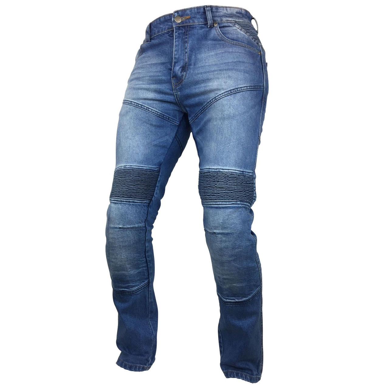 Mens Denim Motorbike Sports Jeans With Protective Lined